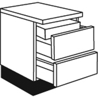 01 01 Two Pan Drawer Unit with Internal Drawer