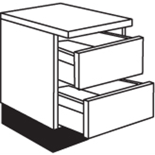 01 01 Two Pan Drawer Unit