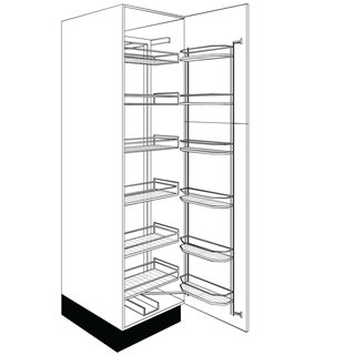 Zest 500mm White Gloss Tandem Larder Unit