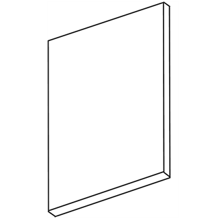 Zest Ivory Gloss End Support Panel/Add on Larder End Panel