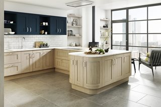 Shaker Sand Oak Kitchens