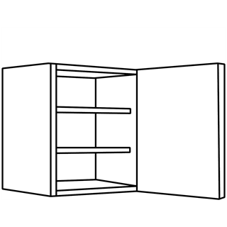 450mm Opaco Painted Single Wall Unit