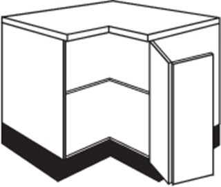 Concept Painted L Shaped Corner Base Unit (930mm)