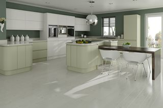 Fusion Painted J Pull Shaker Kitchens