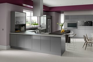 Fusion Gloss J Pull Grey Kitchens