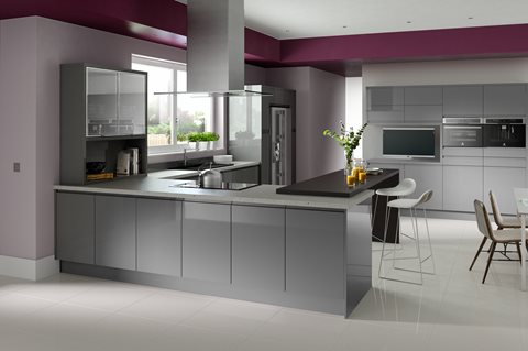 Fusion Gloss Grey Kitchens