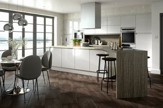 Fusion Gloss Light Grey J Pull Kitchens