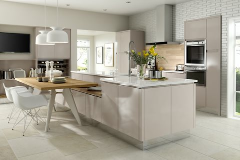 Fusion Gloss Cashmere Kitchens