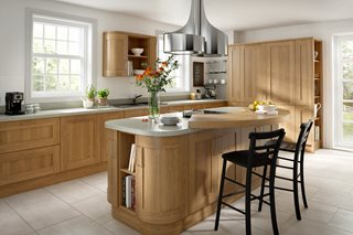 Shaker Lissa Oak Wood Kitchens