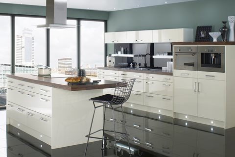 Logica Gloss Ivory Kitchens