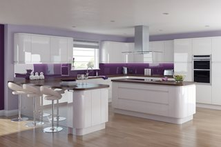 Fusion Gloss J Pull White Kitchens