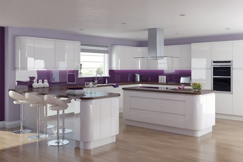 Fusion Gloss White Kitchens