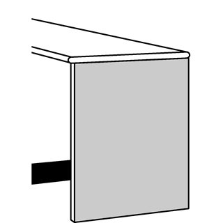 White Satin End Support Panel