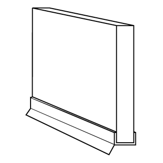 Aluminium Plinth (with sealing strip)