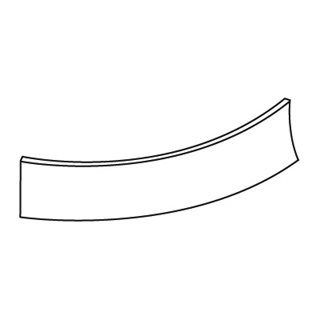 Fusion Ivory Curved Plinth (External)