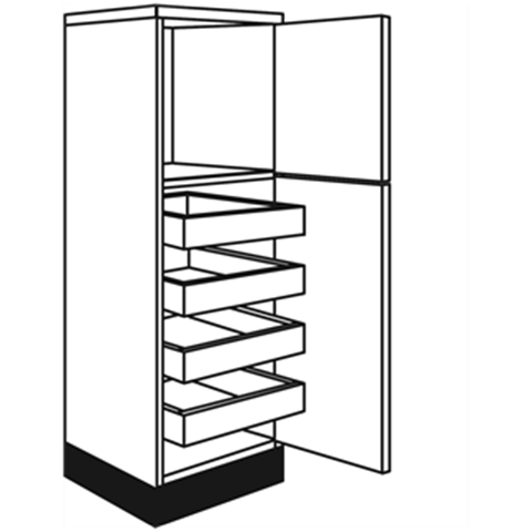 Concept Painted J Pull Shaker Larder and Appliance Units