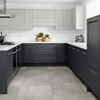 Integrated J Profile Shaker Kitchen (Limestone and Anthracite)