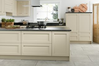Integrated J Profile Shaker Kitchen (Oyster)