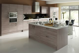Driftwood Plain Slab Kitchen