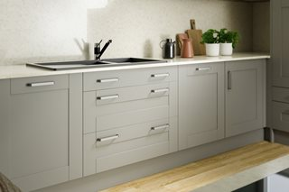 Moda Light Grey Shaker Style Kitchen