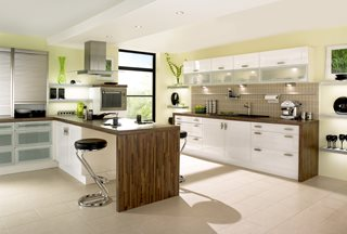Gloss White Shaker Kitchen