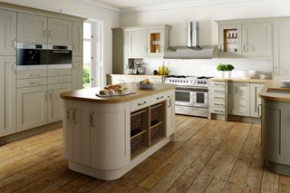 Shaker Wood Sage Grey & Oyster Kitchen
