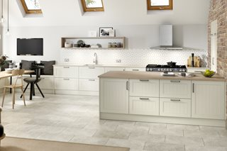 Grooved Ivory Kitchen