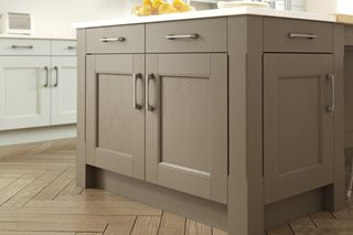 Stately Shaker Painted Hickory Kitchen