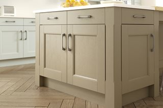 Stately Shaker Painted Sandstone Kitchen