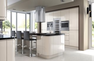 Gloss Ivory J Pull Kitchens