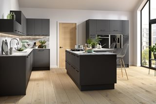 Plain Slab Kitchens